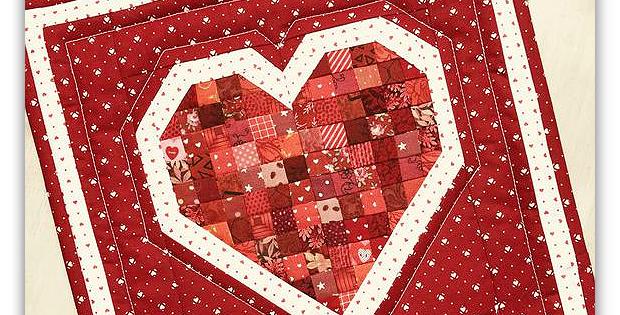 Petite Patch Heart Mini Quilt Pattern