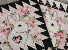 Easy Applique Bunny Baby Quilt Pattern