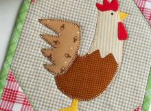 Rooster Mug Rug Pattern