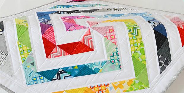 Rainbow Swirl Mini Quilt Pattern