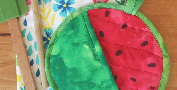 Watermelon Potholder Tutorial