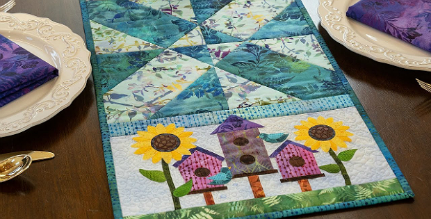 Easy Pieced Table Runner Series Pattern - August