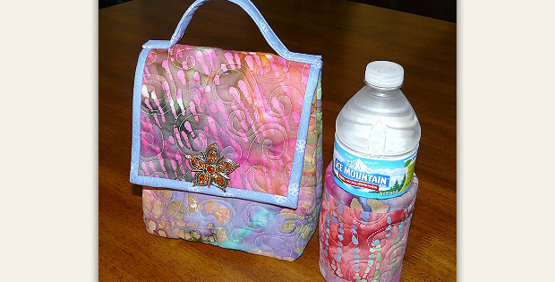 Quilted Lunch Bag and Beverage Cozy Pattern