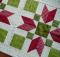 Christmas Poinsettia Quilt Block Pattern