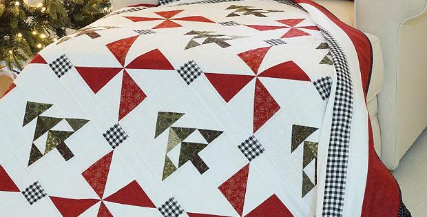 Evergreen Christmas Quilt and Pillow Sham Pattern