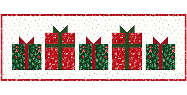 Christmas Present Table Runner Pattern