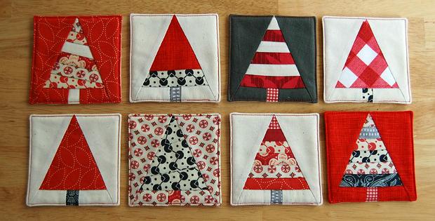 Christmas Tree Coasters Pattern