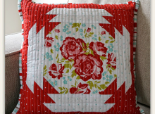 Quilted Garden Pillow Tutorial