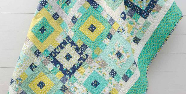 Jardin Bleu Quilt Pattern
