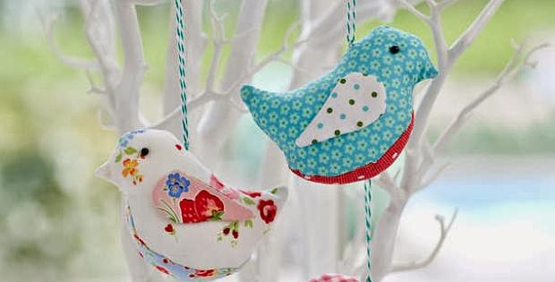 Fabric Birds Pattern
