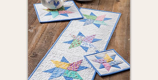Floating Stars Table Set Pattern
