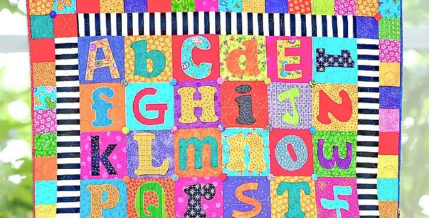Scrappy Alphabet Quilt Pattern