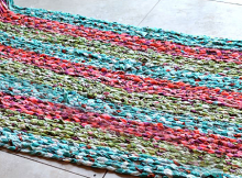 Use Up Excess Fabric in a Charming Braided Rag Rug