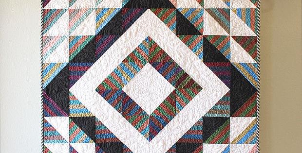 Stripey HSTs Quilt Pattern