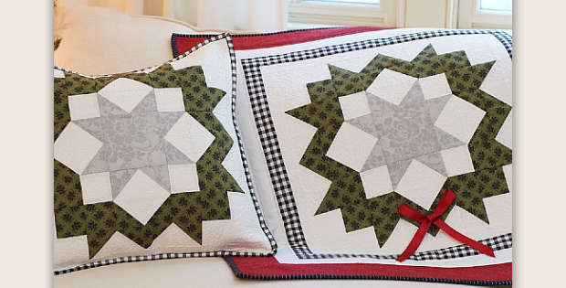 Starlit Wreath Table Runner and Matching Pillow Pattern