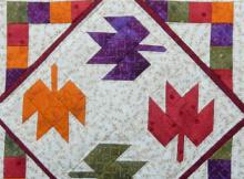 Tumbling Leaves Autumn Miniature Quilt Pattern
