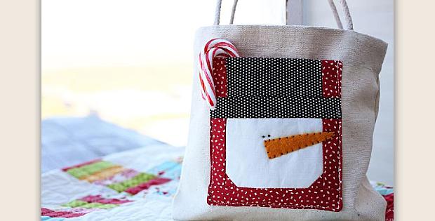Snowman Gift Bag Pattern