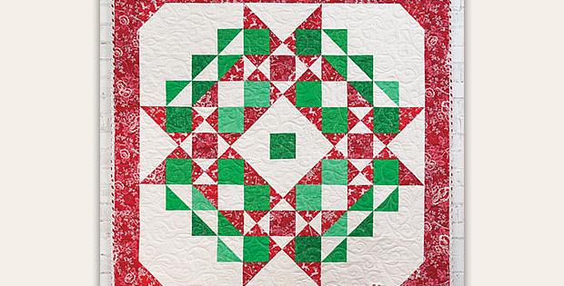 Christmas Star Wreath Quilt Pattern