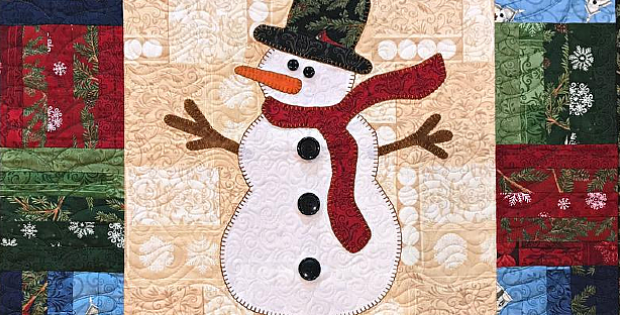 Snowman Wallhanging Quilt Pattern