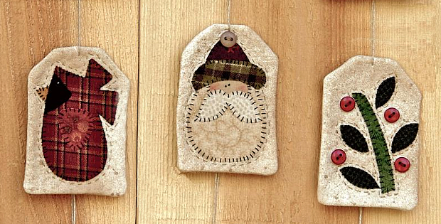 Simple Quilted Ornaments Pattern