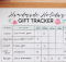 Handmade Holiday Gift Tracker
