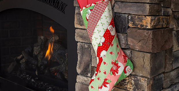 Quilt As You Go Holiday Stocking Pattern