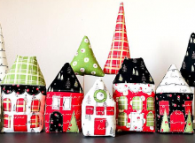 Merry Little Christmas Village Pattern
