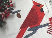 Cardinal Bird Quilt Block Pattern