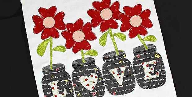 Jars of Love Quilt Block Tutorial