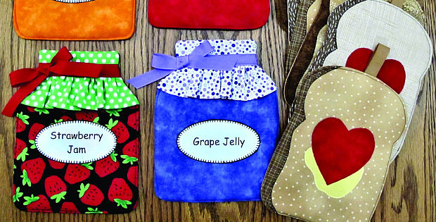 Toast and Jam Pot Holders Pattern