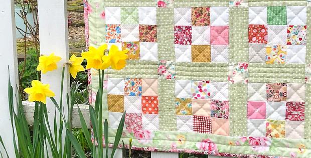 Spring Nine Patch Quilt Pattern