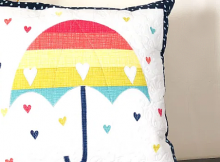 Rainbow Umbrella Pillow Tutorial