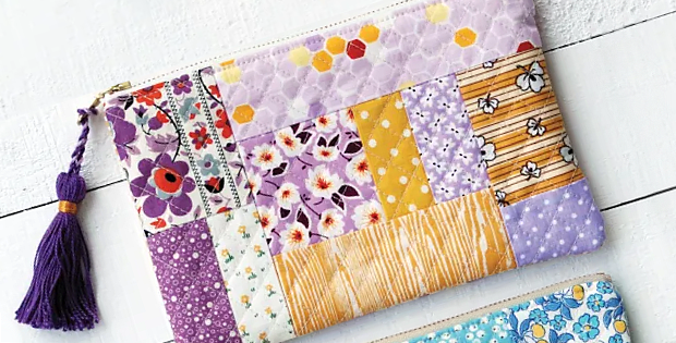 Quilted Tassel Pouch Tutorial