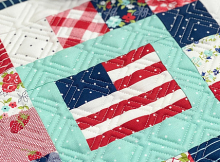 F is For Flag Mini Quilt Pattern