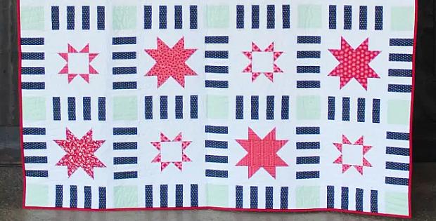 Stars in Stripes Quilt Pattern