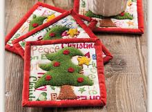 O Christmas Tree Coaster Set Pattern