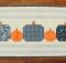 Gingham + Pumpkins Table Runner Pattern
