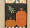 Pumpkin Harvest Wall Hanging Pattern